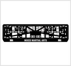Комплект (2шт.) рамок для авто номеров MMA (MIXED MARTIAL ARTS)